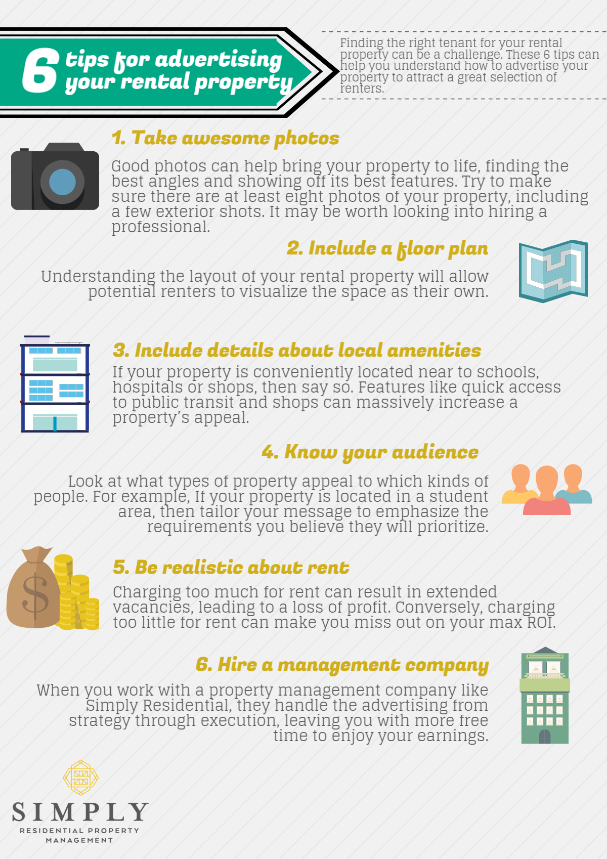 Tips For Advertising Your Rental Property Infographic Simply - Rental property business plan template