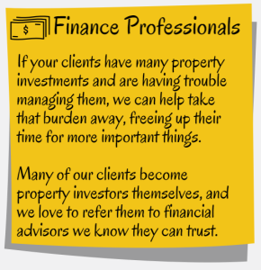 Finance Professionals Property Management Partnership Blog Image