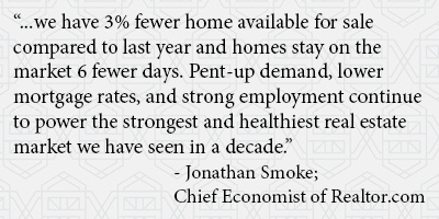 Quote from Jonathan Smoke, Chief Economist at Realtor.com